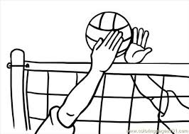 Pages Volleyball Sports Free Printable Coloring Page