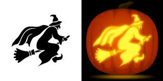 Pumpkin Carving Witch Face Template by Free Witch Pumpkin Stencil