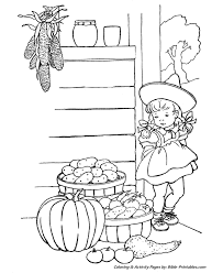 Thanksgiving Scenes And Fun Coloring Pages