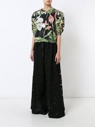orchid printed cotton sweatshirt with puff sleeve u2013 adam lippes
