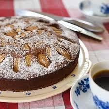 herbstlicher schokoladen birnen kuchen