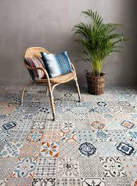 Mosaic Patterned click vinyl flooring from Tarkett something for