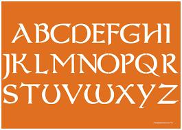 2 Inch Fancy Celtic Alphabet Stencils Uppercase Lowercase Buy