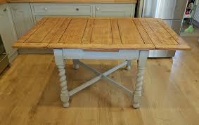Solid Oak 1940s Barley Twist Draw Leaf Table Dining Table