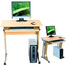 bureau ordinateur blanc bureau ordinateur gain de place petit bureau informatique meuble