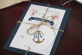 Nautical Wedding Invitation Invitations Rustic Custom