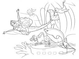 Dolphin And Mermaid Coloring Pages 2