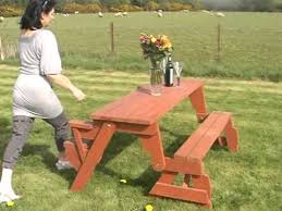 bench converts to picnic table youtube