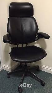 humanscale freedom headrest black leather executive office task chair