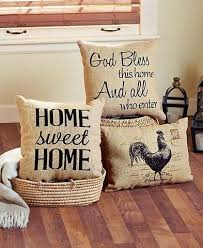 These Vintage Burlap Decorative Pillow Adds Just The Right Amount Of Country Charm To Your Space With A Rustic Design And Handmade Look Its Perfect