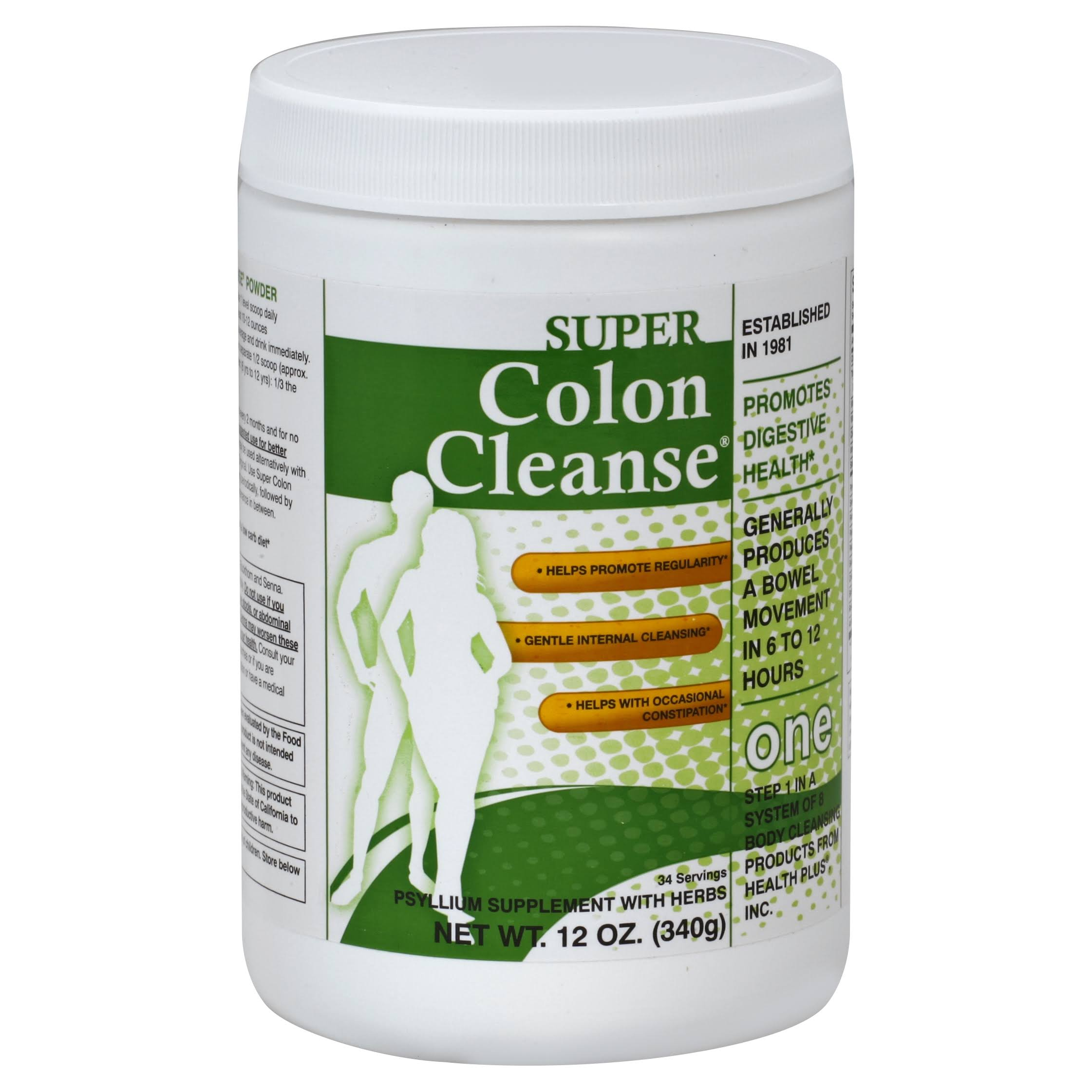 Health Plus Super Colon Cleanse Powder - 12oz