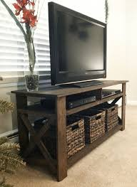 Wood Rustic TV Console