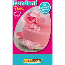 decocino fondant rosa 250 g ideal zum verzieren kuchen torten cupcakes palmölfrei glutenfrei