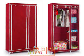 House Scenery Bedroom Simple Steel Frame Folding Cabinet Portable