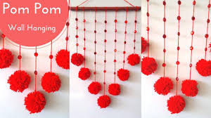 DIY Pom Wall Hanging Crafts Decoration Ideas