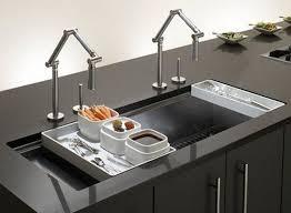 kitchen sink with 2 faucets kitchen design
