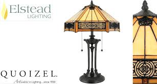 Quoizel Tiffany Lamp Shades by Quoizel Table Lamps Table Lamp Bronze Base With Amber Glass Shade