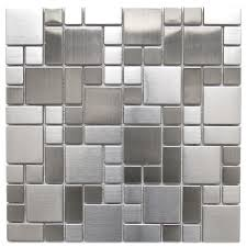 mosaic tile modern cobble pattern stainless steel mosaic tile