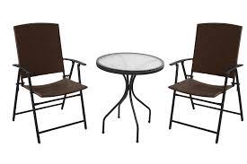 Folding Patio Chairs Amazon by Amazon Com Patio Set Outdoor Wicker Bistro Garden U0026 Outdoor