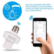 sonoff e27 wifi wireless light l bulb holder cap socket