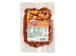 cheddar lit l smokies smoked sausage hillshire farm brand