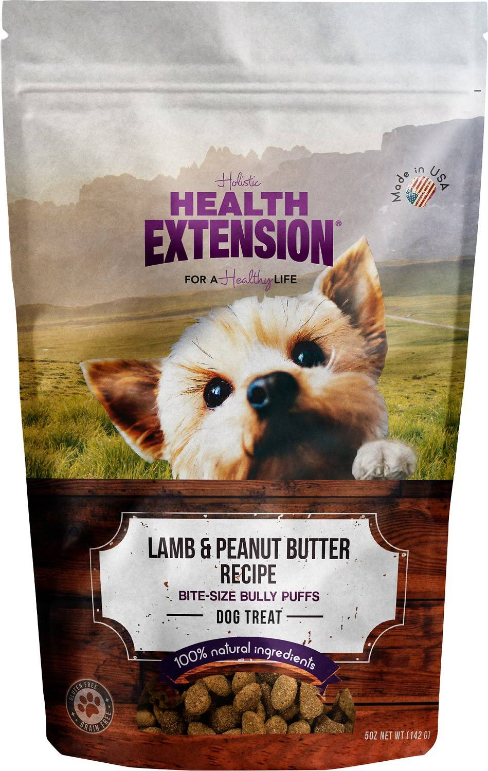 Health Extension Bully Puffs Dog Treat - Lamb and Peanut Butter, 5oz