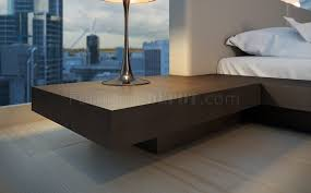 worth hb39a platform bed by modloft with built in side tables