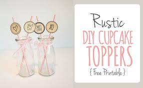 DIY Rustic Printable Cupcake Topper