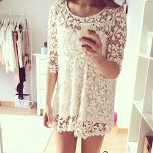 Dress Frees Outfit Girly Girl Model Pretty Nice Cute Lace White Vintage Retro
