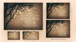 Read More Twinkle Lights Mason Jars Rustic Wedding Invitation Jar Invitations With Rsvp Cards