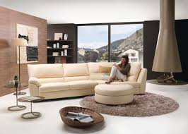 Alessia Leather Sofa Living Room by Circular Sofas Living Room Furniture Centerfieldbar Com