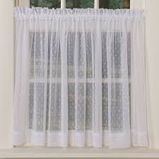 White Kitchen Curtains With Black Trim by Kitchen Beautiful Grommet Kitchen Curtains White Cafe Curtains