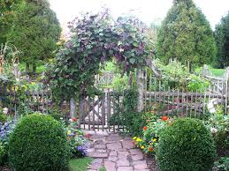 Rustic Ranch Fence Landscape Traditional With Wood Gate Garden