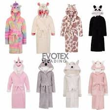 robe de chambre enfant fille boys childrens novelty fleece dressing gown robe age