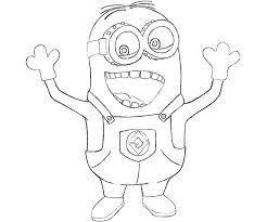 Colouring Pages Of Minions Despicable Me Minion Coloring Kids