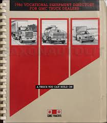 1986 GMC Truck Vocational Special Equipment Catalog