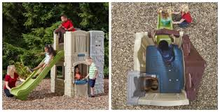 Step2 Playhouses Slides U0026 Climbers by Win The Step2 2 Story Playhouse And Slide Arv 599 Thrifty