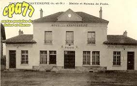 bureau de poste pontault combault carte postale ancienne de brou sur chantereine 77 mairie et