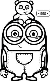 Despicable Me Coloring Pages Margo Online Minion Dave Minions Cute