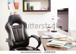 Office Space And Desk Of A Graphic Designer With Desktop Computer Notes Color