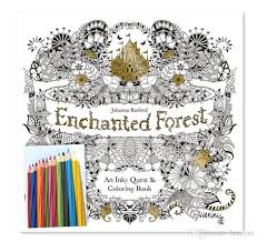 Enchanted Forest An Inky Quest Coloring Book By Johanna Basford With 12pcs Pencils