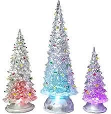 Christmas Tree Amazon Prime by Amazon Com Led Lighted Acrylic Christmas Trees Holiday Decoration