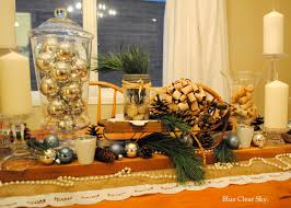 Dining Room Table Decorating Ideas For Fall by Rustic Maple Christmas Dining Room Table Vignette