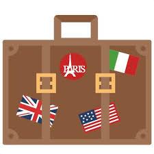Travel Suitcase SVG Scrapbook Cut File Cute Clipart Files For