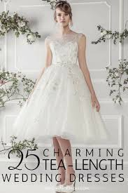 25 Utterly Charming Short Tea Length Wedding Dresses