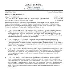 Writing A Government Resume Sample Federal Examples