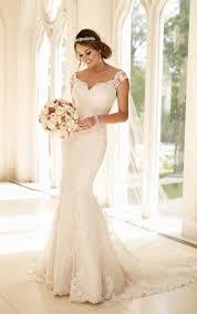 illusion lace back wedding dress stella york wedding dresses