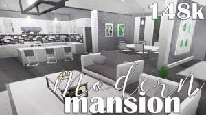 100 Inside House Ideas ROBLOX Welcome To Bloxburg Modern Mansion 148k YouTube