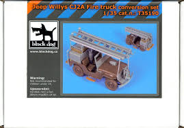 100 Willys Truck Parts Blackdog Models 135 WILLYS JEEP CJ2A FIRE TRUCK Resin Conversion