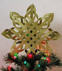 Woven Paper Star Christmas Tree Topper